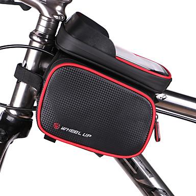 حقيبة الهاتف الخليوي / حقيبة دراجة الإطار 5 بوصة مقاوم للماء, الشاشات التي تعمل باللمس ركوب الدراجة إلى iPhone 8/7/6S/6