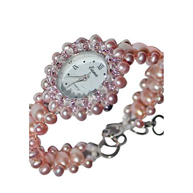 Dames Modieus horloge Armbandhorloge Kwarts Jade Band Roze