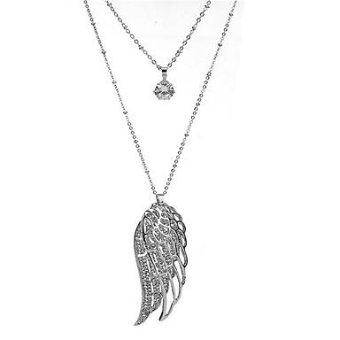 Damen Synthetischer Diamant Anhängerketten - Modisch Flügel Silber Modische Halsketten Für Geschenk Alltag Normal