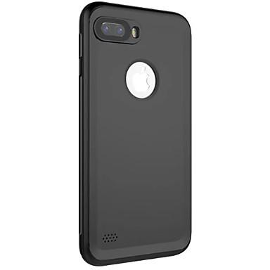 Voor iPhone 8 iPhone 8 Plus Hoesje cover Waterbestendig Volledige behuizing hoesje Effen Kleur Zacht PU-leer voor Apple iPhone 7s Plus