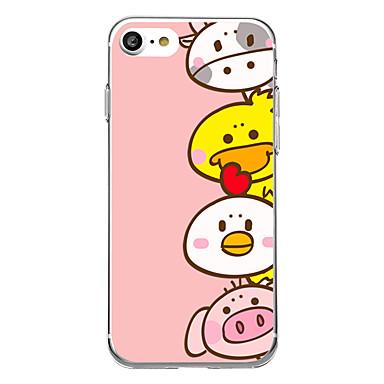 Etui Käyttötarkoitus Apple iPhone 7 Plus iPhone 7 Ultraohut Kuvio Takakuori Piirretty Pehmeä TPU varten iPhone 7 Plus iPhone 7 iPhone 6s
