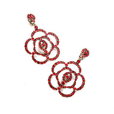 Naisten Korvarenkaat Kristalli Kukka Kukkaset Personoitu Euramerican Flower Shape Korut Käyttötarkoitus Häät Party Syntymäpäivä
