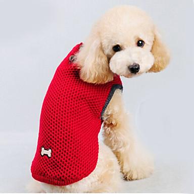 Gato Cachorro Súeters Roupas para Cães Mantenha Quente Sólido Vermelho Azul Ocasiões Especiais Para animais de estimação
