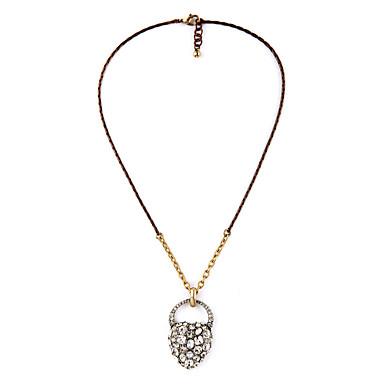Damskie Naszyjniki z wisiorkami Heart Shape Przyjaźń minimalistyczny styl White Biżuteria Na Impreza 1szt