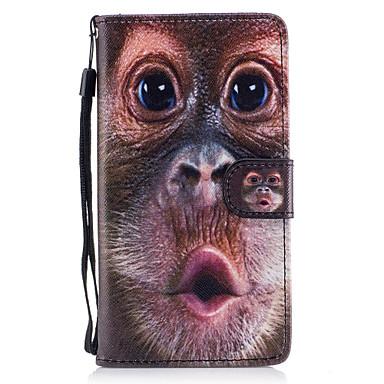 Etui Käyttötarkoitus Samsung Galaxy J5 (2016) Lomapkko Korttikotelo Tuella Flip Magneetti Kuvio Kokonaan peittävä Eläin Kova PU-nahka