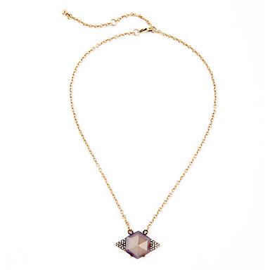 Kadın's Uçlu Kolyeler Geometric Shape Arkadaşlık sevimli Stil Açık Kahverengi Mücevher Için 1pc