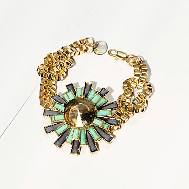 Damskie Bransoletki i łańcuszki na rękę Biżuteria Modny Stop Flower Shape Green Biżuteria NaSpecjalne okazje Urodziny Prezenty
