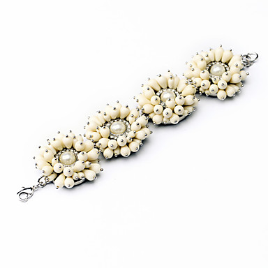 Γυναικεία Βραχιόλια με Αλυσίδα & Κούμπωμα Κοσμήματα Φιλία Μοντέρνα Κράμα Flower Shape Λευκό Κοσμήματα Για Γάμου 1pc