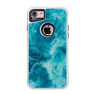 Voor iphone 7 7 plus case cover schokbestendig patroon achterkant hoesje marmer harde pc voor 6s 6 plus 6s 6 se 5s 5