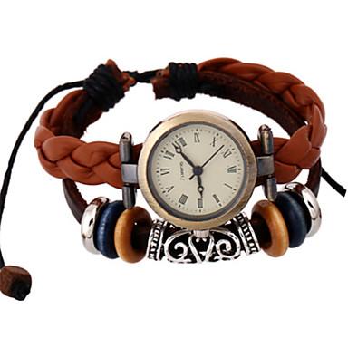 Heren Modieus horloge Kwarts PU Band Bruin
