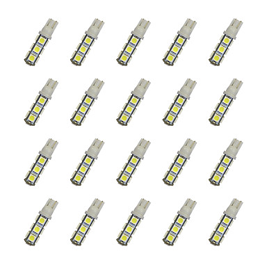 20pcs t10 13 * 5050 smd led lampje wit licht dc12v