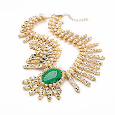 Damskie Pasemka Naszyjniki Kryształ Unikalny Modny Osobiste euroamerykańskiej Light Green Biżuteria Na Ślub Impreza 1szt