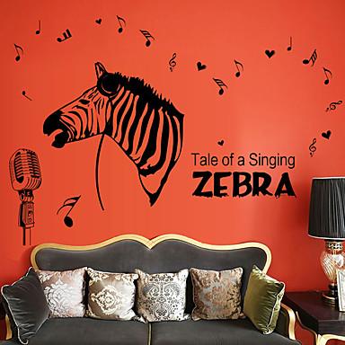 Animale Muzică Modă Perete Postituri Autocolante perete plane Autocolante de Perete Decorative,Hârtie Material Pagina de decorarede