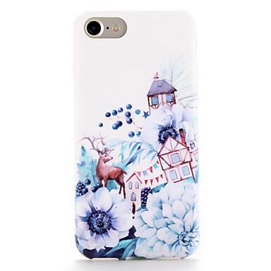 Pentru Carcase Huse Model Carcasă Spate Maska Animal Floare Moale TPU pentru AppleiPhone 7 Plus iPhone 7 iPhone 6s Plus iPhone 6 Plus