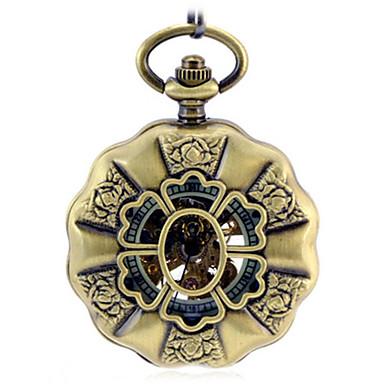للرجال ساعة الهيكل ساعة جيب ووتش الميكانيكية داخل الساعة أتوماتيك أشابة فرقة برونز