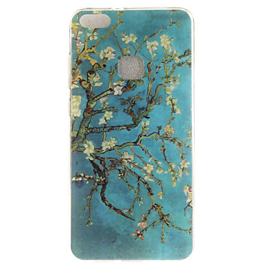 Kılıf Na Huawei IMD Wzór Czarne etui Kwiaty Miękkie TPU na P10 Lite P10 P8 Lite (2017) Honor 6X Huawei Y6 II / Honor Holly 3 Huawei Y5 II