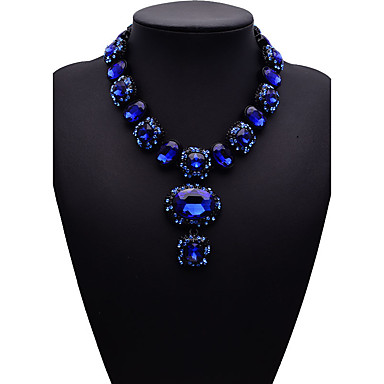 للمرأة أخرى موضة euramerican في قلائد الحلي مجوهرات الأحجار الكريمة الاصطناعية سبيكة قلائد الحلي ، حزب هدية