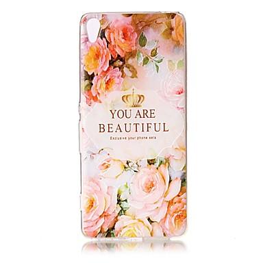Için Kılıflar Kapaklar Şeffaf Süslü Temalı Arka Kılıf Pouzdro Kelime / Cümle Çiçek Yumuşak TPU için SonySony Xperia XZ Premium Sony