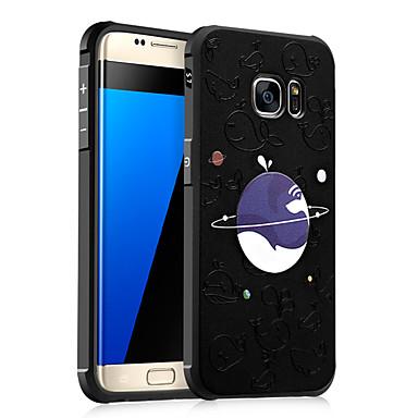 Voor Samsung Galaxy S7 S6 case cover schokbestendig reliëf patroon achterkant landschap zachte tpu