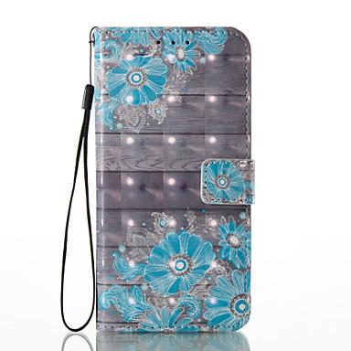 Für huawei p8 lite (2017) p9 lite Kartenhalter Brieftasche Muster Fall Ganzkörper Fall Blume hart PU Leder