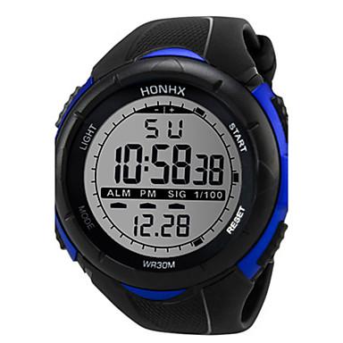 Pánské Sportovní hodinky Digitální hodinky Digitální Silikon Černá 30 m Hodinky na běžné nošení Cool Digitální Bílá Černá Modrá