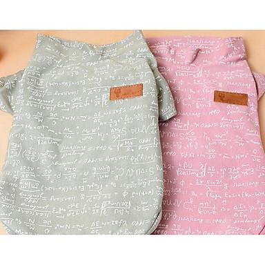 Hund T-shirt Hundekleidung Atmungsaktiv Niedlich Lässig/Alltäglich Modisch Blume Grau Rosa Kostüm Für Haustiere