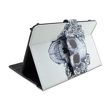 Für Hüllen Cover mit Halterung mit Tastatur Flipbare Hülle Muster Handyhülle für das ganze Handy Hülle Totenkopf Motiv Blume Hart