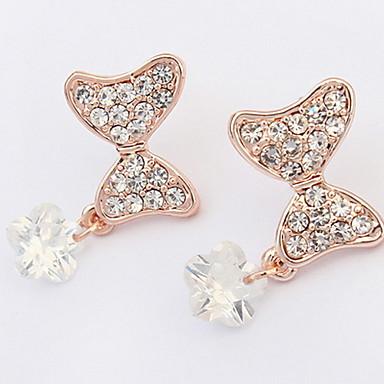 Damen Ohrstecker Tropfen-Ohrringe Kreolen Strass Basis Einzigartiges Design Logo Stil Strass Geometrisch Freundschaft individualisiert