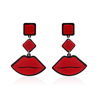 للمرأة أقراط قطرة مجوهرات تصميم فريد موديل الزينة المعلقة أكريليك ملابس-طرق متعددة بيان المجوهرات أفريقيا كلاسيكي أكريليك Geometric Shape