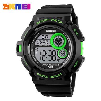 SKMEI Heren Sporthorloge Militair horloge Digitaal horloge Japans Digitaal Kalender Waterbestendig alarm s Nachts oplichtend Stopwatch PU