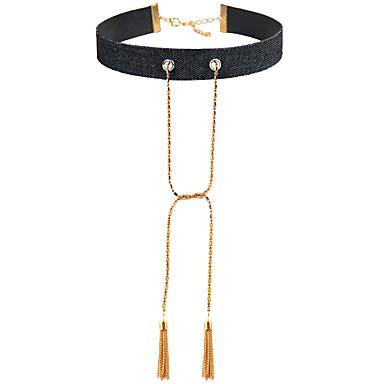 Damen Halsketten Schmuck Schmuck Leder Aleación Euramerican Modisch Schmuck Für Party Besondere Anlässe