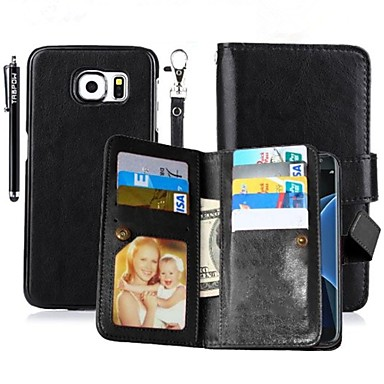 Para Porta-Cartão / Carteira / Com Suporte / Flip / Magnética Capinha Corpo Inteiro Capinha Cor Única Rígida Couro PU SamsungNote 5 /