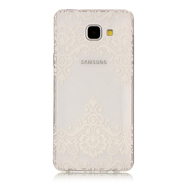 Hülle Für Samsung Galaxy A5(2017) A3(2017) Transparent Muster Rückseitenabdeckung Blume Weich TPU für A3 (2017) A5 (2017) A5(2016)