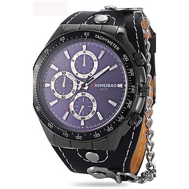 Herrn Erwachsene Einzigartige kreative Uhr Armbanduhr Armband-Uhr Modeuhr Sportuhr Chinesisch Quartz Kalender Wasserdicht Leder Band