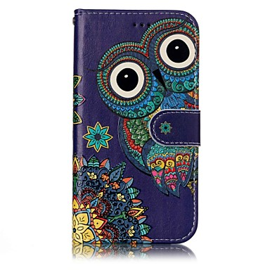 voordelige Galaxy A-serie hoesjes / covers-hoesje Voor Samsung Galaxy A3 (2017) / A5 (2017) Portemonnee / Kaarthouder / met standaard Volledig hoesje Uil Hard PU-nahka