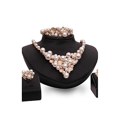 Dames Sieraden Set Imitatie Parel Bergkristal Modieus Vintage PERSGepersonaliseerd Euramerican Opvallende sieraden Kostuum juwelen