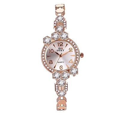 Dames Digitaal horloge Modieus horloge Armbandhorloge Unieke creatieve horloge Chinees Kwarts Waterbestendig Legering Band Amulet Glitter