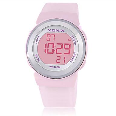 Dames Kinderen Sporthorloge Smart horloge Digitaal Waterbestendig s Nachts oplichtend Rubber Band Wit Blauw Bruin Paars