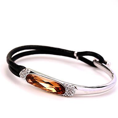 Dames Bangles Sieraden Natuur Modieus Vintage Met de hand gemaakt Kristal Legering Ovalen vorm Sieraden Voor Bruiloft Feest Verjaardag