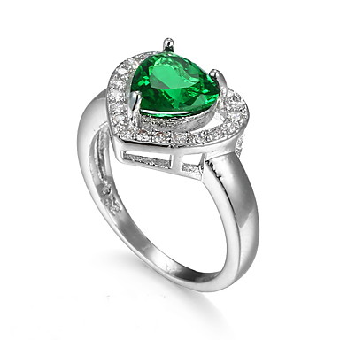 Damen Ring Smaragd Einzigartiges Design Modisch Euramerican Zirkon Aleación Schmuck Schmuck Für Hochzeit Besondere Anlässe