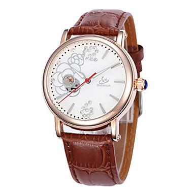 Dames Kwarts mechanische horloges Hot Sale Leer Band Amulet Modieus Zwart Bruin Roze