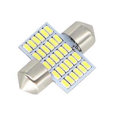 Недорогие Фары для мотоциклов-SO.K 2pcs 31mm Автомобиль Лампы 3 W SMD 3014 300 lm Светодиодная лампа Внутреннее освещение