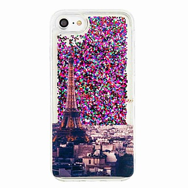 hoesje Voor Apple iPhone 7 Plus iPhone 7 Stromende vloeistof Patroon Achterkant Eiffeltoren Zacht TPU voor iPhone 7 Plus iPhone 7 iPhone