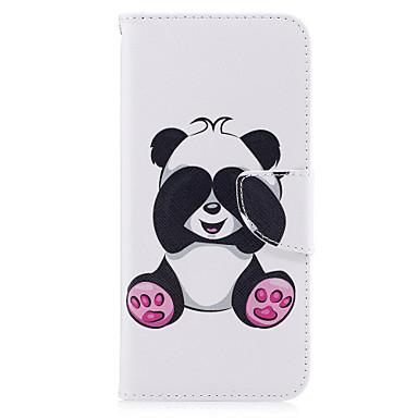 Недорогие Чехлы и кейсы для Galaxy S6 Edge-Кейс для Назначение SSamsung Galaxy S8 Plus / S8 / S7 edge Кошелек / Бумажник для карт / со стендом Чехол Панда Твердый Кожа PU