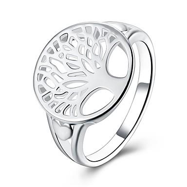 Damen Ring Schmuck Personalisiert Blumig Geometrisch Kreisförmiges Einzigartiges Design Tattoo Stil Klassisch Retro Böhmische Grundlegend