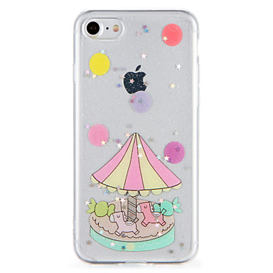 Hülle Für Apple iPhone 7 Plus iPhone 7 Muster Rückseite Glänzender Schein Cartoon Design Weich TPU für iPhone 7 Plus iPhone 7 iPhone 6s