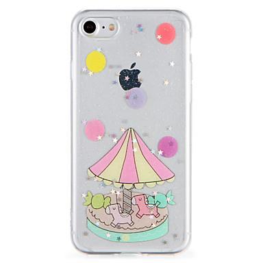 hoesje Voor Apple iPhone 7 Plus iPhone 7 Patroon Achterkant Glitterglans Cartoon Zacht TPU voor iPhone 7 Plus iPhone 7 iPhone 6s Plus