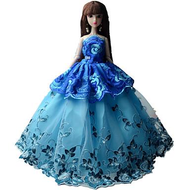 Rochii Rochii Pentru Barbie Doll Pânză organza Poliester Jacquard Rochie Pentru Fata lui păpușă de jucărie