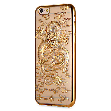 Voor apple iphone 7 7plus case cover plating patroon back cover case dierlijke soft tpu 6s plus 6 plus 6s 6