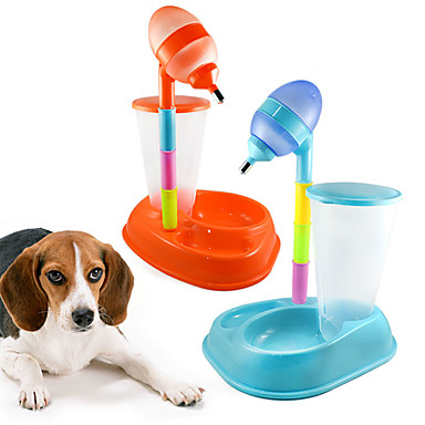 Kat Hond Voederautomaten Huisdieren Kommen & Voeden draagbaar Oranje Geel Roos Blauw